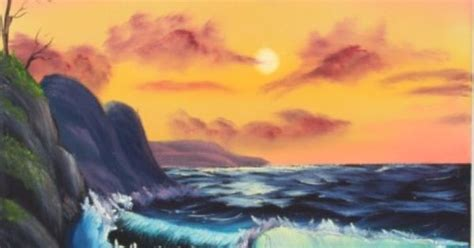 bob ross painting the sea quot by the sea quot by bob ross based on the of painting