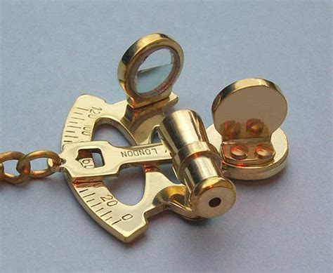sextant keychain solid brass sextant key chain can be custom engraved