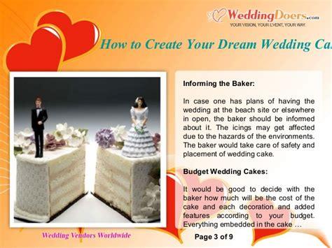 design your dream cake how to create your dream wedding cake