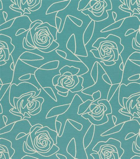 blue home decor fabric home decor upholstery fabric crypton bed of roses blue
