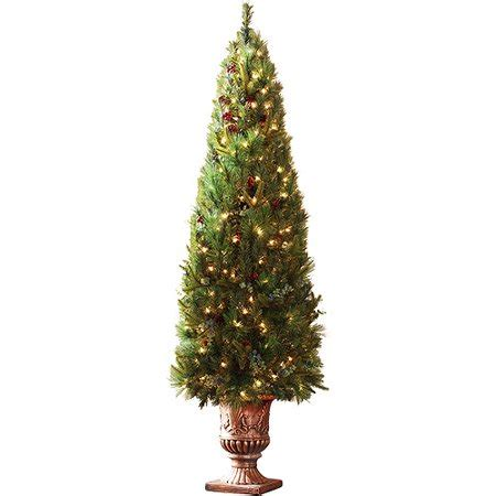 christmas trees at walmart willows ca time 6 shadow valley porch artificial tree with fiber glass pot clear lights