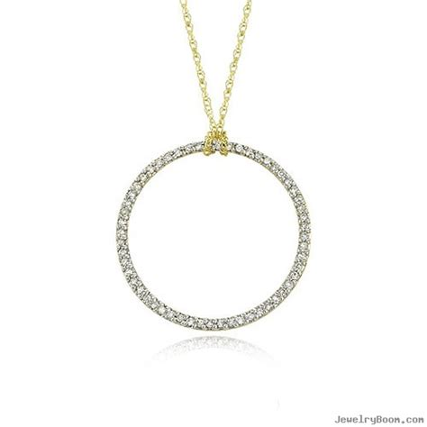 14k yellow gold 1 5ct open circle necklace