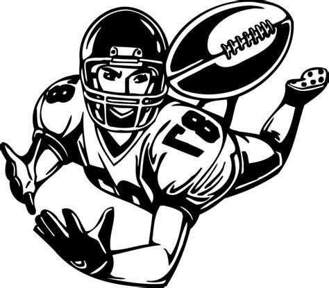 football player clip football clipart clipart panda free clipart images