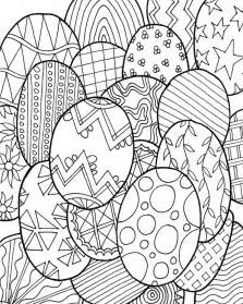 coloring page easter easter eggs 3