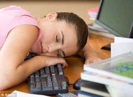 Sleep deprived teenagers may risk long term damage to wiring of the brain   Daily Mail Online