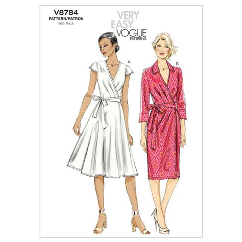 dress pattern how much fabric vogue misses dress pattern v8784 size a50 discount