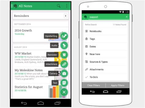 evernote android evernote 6 for android gets interface makeover and new features gizbot
