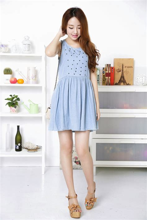 Fashion Wanita Dress D7000 trend fashion korea terbaru korean make up tutorial kumpulan model dress korean style terbaru
