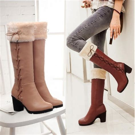 winter high heels boots wholesale winter boots snow boots fur shoes