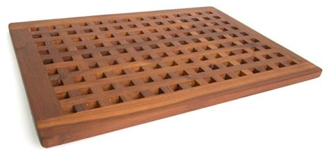 teak bath shower mat from the grate collection