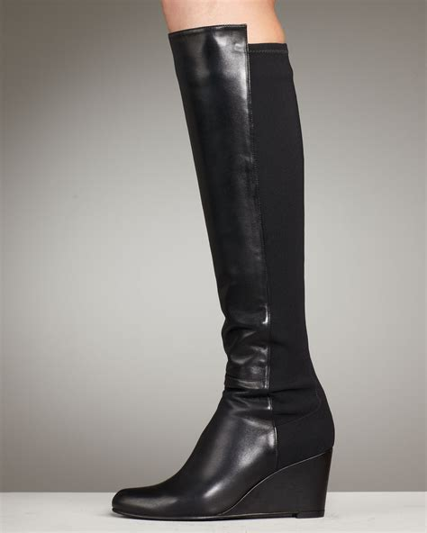 Sale Semi Boots Black N30 lyst stuart weitzman wedge boot in black