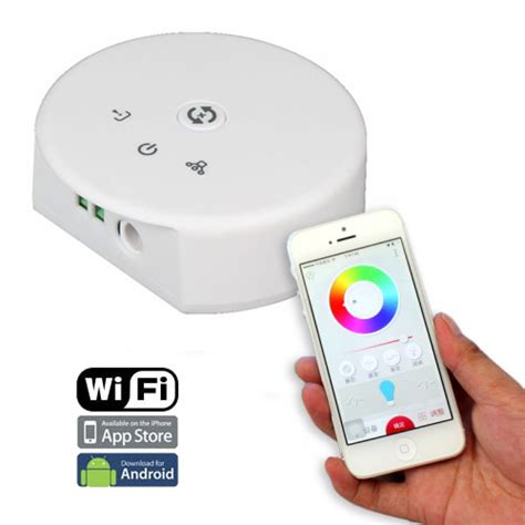wf100 wifi rgb led controller control led lights with color change rgb controller series