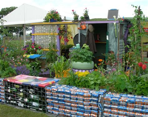 garden from recycled materials charming and colourful garden shed using lots of recycled