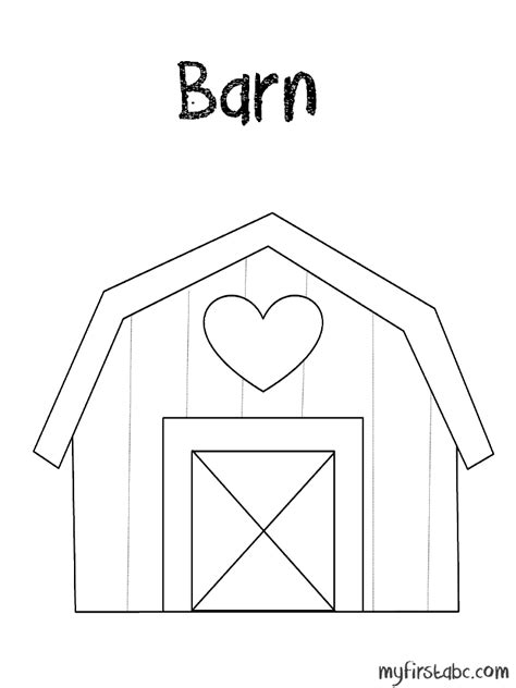 Free Coloring Pages Of Red Barn Barn Coloring Page