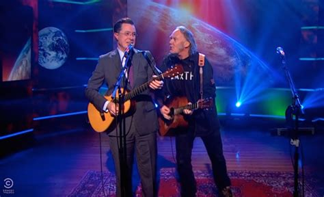 david crosby woodstock duet stephen colbert neil young in a comic duet quot who s gonna