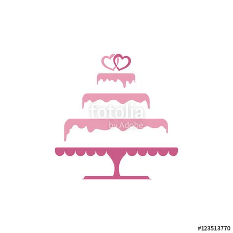 Wedding Cake Logo by Quot Sweet Tiered Wedding Cake Logo Template Quot Stock Image