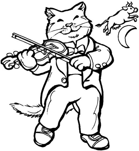 hey diddle diddle coloring page az coloring pages