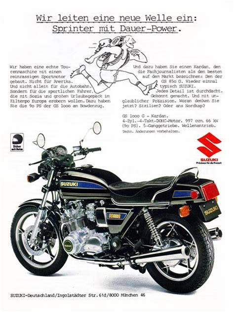 81 Suzuki Gs 1000 Suzuki Gs1000g Adverts