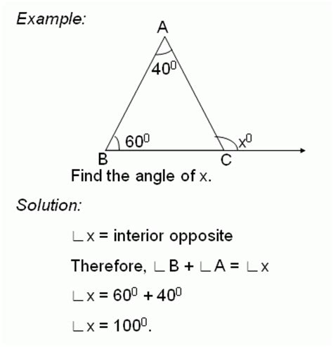 Exterior And Interior Angles Of A Triangle Worksheet by Theorem Exterior Angle Theorem Of A Triangle Middle High School Algebra Geometry And