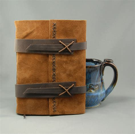 Handmade Leather Journal - handmade leather journal with parchment paper