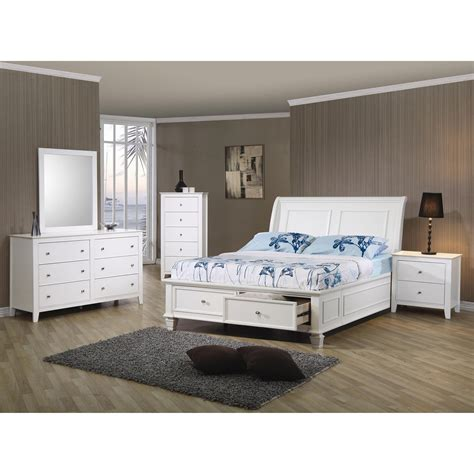 beach bedroom furniture sets coaster furniture 400239f sandy beach full sleigh bed with