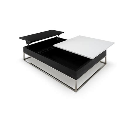 Dreamfurniture Com P209a Modern White Coffee Table Contemporary Storage Coffee Table