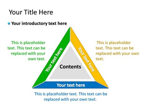 3 Sections In 3 Years by Powerpoint Slide Diagram Triangle Multicolor 3