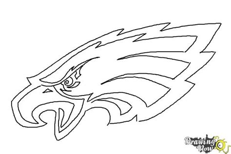 eagles coloring pages nfl how to draw philadelphia eagles logo nfl team logo