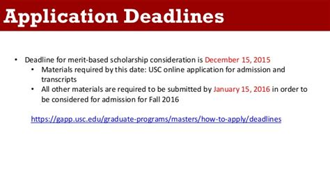 Of Southern California Mba Deadline by Applying To Graduate Engineering Programs At Usc