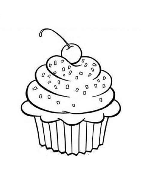 Preschool Coloring Pages Cupcakes | coloring pages cups free printable cupcake coloring