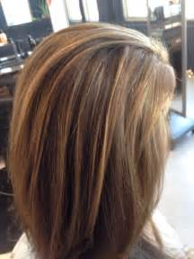 Light brown hair with highlights lowlights