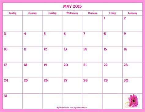 printable calendar october 2015 cute 7 best images of blank calendar printable pink flowers
