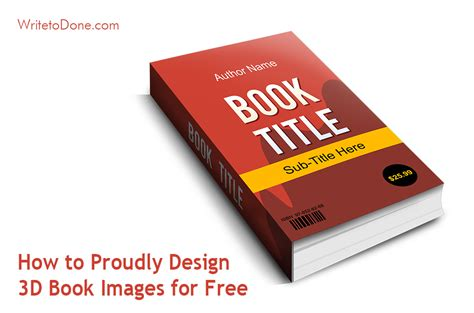 how to your books how to proudly design 3d book images for free