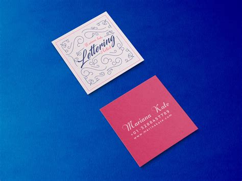 Free Square Business Card Template Psd by Free Front Back Square Business Card Mockup Psd