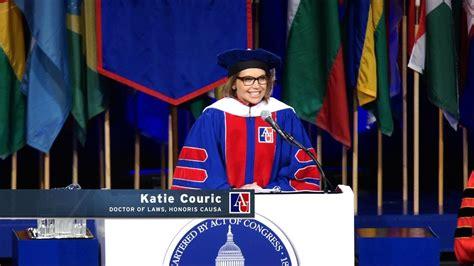 katie couric uva commencement speech katie couric commencement speech american university