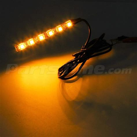 led accent light strips 2x 12v 5050 smd led lights for motorcycle glow accent lighting ebay