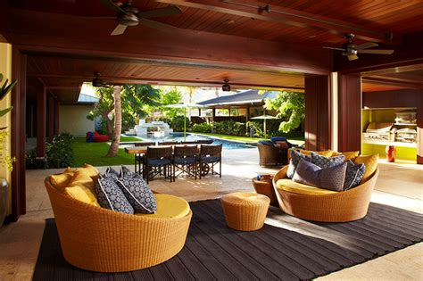 indoor outdoor rooms oahu beach front residence adaptable indoor outdoor