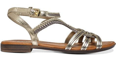 report flat shoes report gilly flat sandals in brown lyst