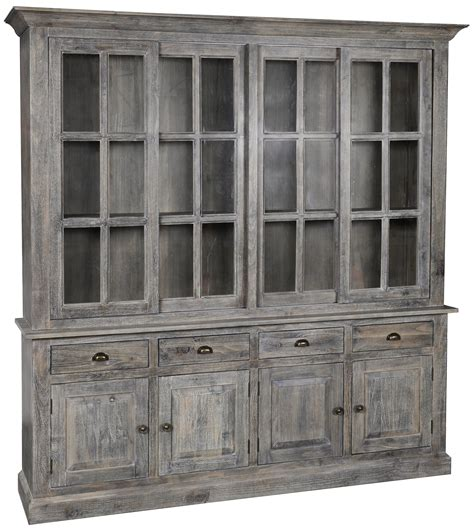 classic home maxwell 4 drawer sliding door china cabinet