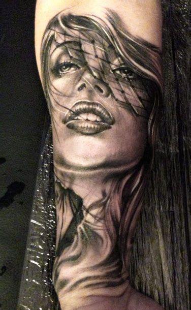 tattoos of women s faces by eze nunez best tattoos