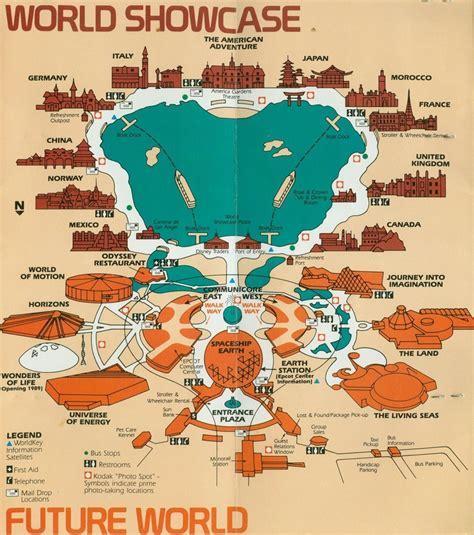 epcot world showcase map 1980s travel