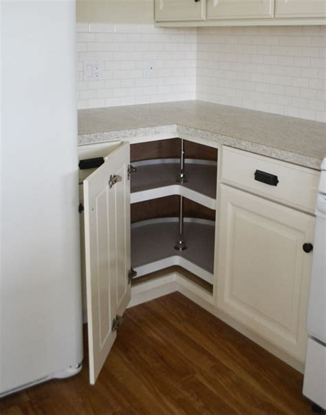 adding a lazy susan in a corner cabinet white corner unit elegant white corner unit with white