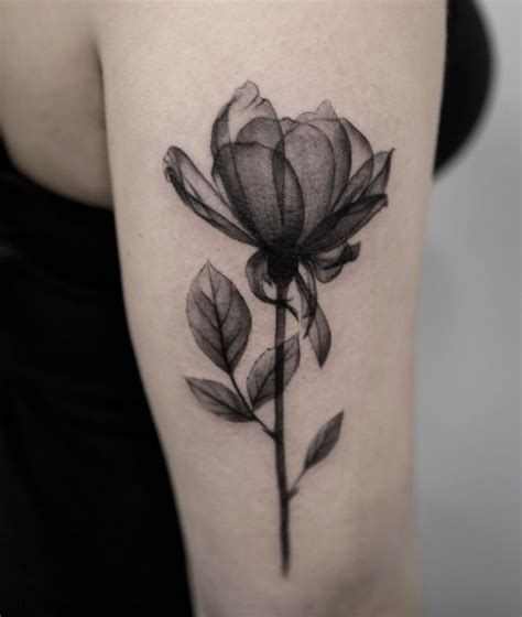 small black and white flower tattoos black and gray flower inkstylemag