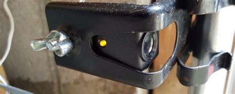 garage door sensor yellow light  issues follow