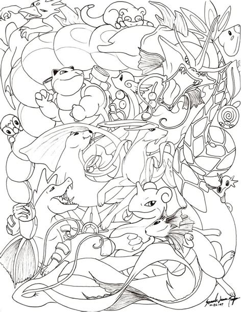 coloring pages eevee evolutions together coloring pages