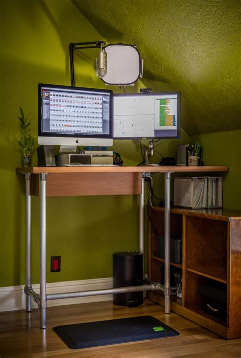 build your own standing desk make your own stand up desk photography gear pinterest