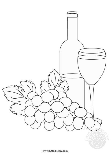 bicchieri da colorare bottiglia con bicchiere di vino da colorare tuttodisegni