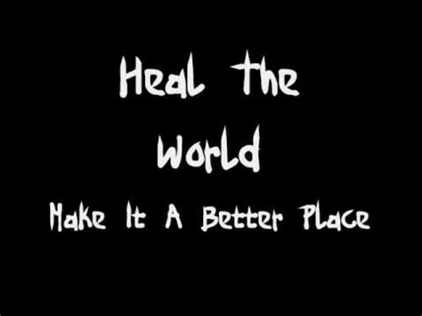testo heal the world michael jackson heal the world lyrics
