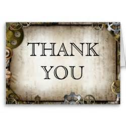 steunk gears thank you cards industrial and for sale
