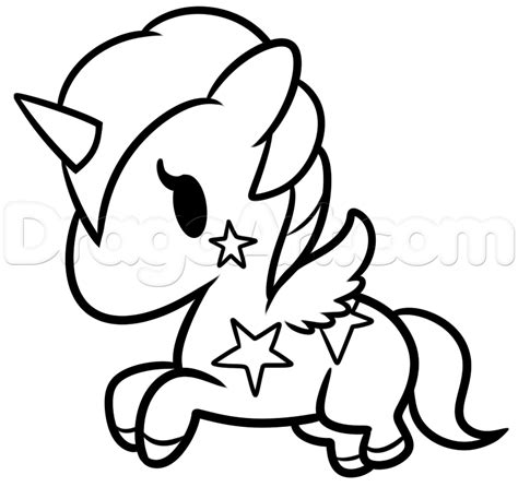easy unicorn coloring page step 8 how to draw hello kitty unicorn